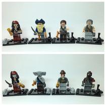 Kit 8 Bonecos - Piratas Do Caribe - Compatível Lego