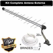 Kit05 Antena Espinha Peixesinal Digital 14canal Hd Completa