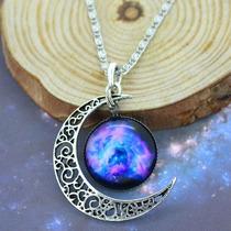 Colar Lua Nebulosa Original- Universo De Platina