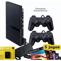 Playstation 2 Usado Destravado 2 Control 1 Memory Card 5 Jog