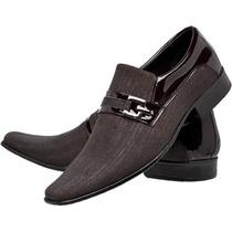 Sapato Social Couro Envernizado Masculin Frete Grátis Franca