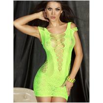 Lingerie Sexy Vestido Sensual Arrastão Super Ousado Lindos