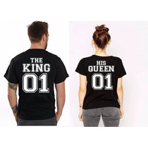 Playeras Novios King Queen,camisas Parejas,playeras Iguales