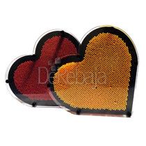 Pin Art Corazon Arte Con Clavos Diseña En 3d Cama De Clavos