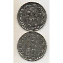 Portugal2 Mon. 50 Escudos Año 1988/1998 C/nickel (xf) Cn 086