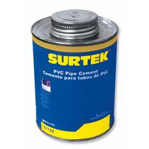 Cemento Para Tubo De Pvc 473ml Seca Rápido Surtek 121132 Hm4