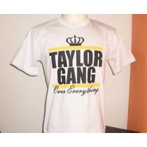 Camisas Hip Hop Rap Wiz Khalifa - Taylor Gang - 100% Algodão