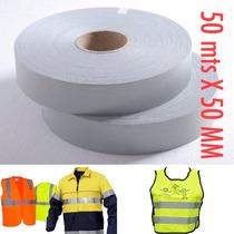 Fita Tecido Refletiva P/ Tecido E Uniformes 50 Mts X 50 Mm