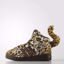 Zapatillas Adidas Originals Niño Leopard Jeremy Scott Colita