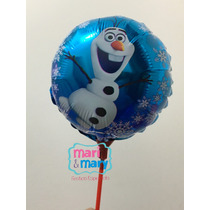 Promo Kit 20 Und Balão Olaf Frozen Com Vareta Disney
