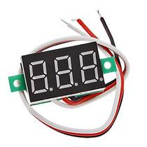Voltimetro Digital, Led Rojo 0-100vdc, Fuente
