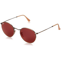 Ray-ban 0rb3447 Square Sunglasses In Brushed Bronze With Red