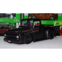 1:24 Ford F100 Pick Up 1956 Negro Jada Toys Pick Up Display