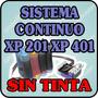 Sistema Continuo Para Epson Xp201xp401 Xp211 Xp411 Sin Tinta