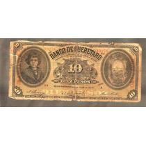 10 Pesos Banco De Queretaro Resello Irapuato