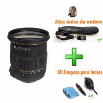 Sigma Lente Nikon 17-50mm + Kit Limpeza + Alça De Ombro
