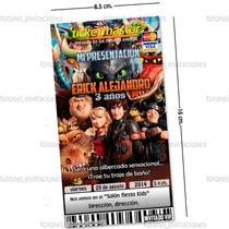 Invitaciones Infantiles Personalizadas Tipo Cómic Y Ticket