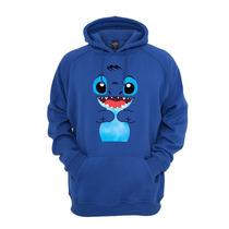 Blusa De Moletom Stitch Com Capuz Algodão