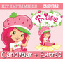 Kit Imprimible Frutillitas - Invitaciones + Promo 3x1