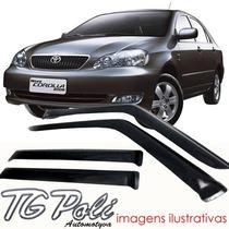 Calha Defletor De Chuva Toyota Corolla Sedan 03 / 07 Tg Poli
