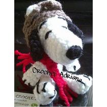 Snoopy Piloto Llavero Amigurumi Tejido Crochet