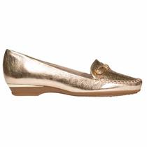 Zapato Mocacin Mujer Sintetico Platino Piccadilly