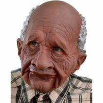 Máscara Homem Velho - Máscara Realista - Frete Express