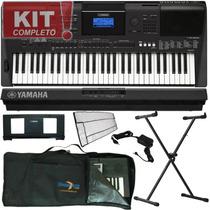 Kit Teclado Musical Yamaha Psr E453 Lançamento 2016 Suporte