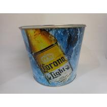 Cubeta Corona Ligh Metalica 6 Botellas