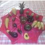 Juego De Frutas De Madera Artesanal ! Una Belleza !