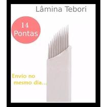 Lâmina Sobrancelha Tebori Microblading 14 Pontas Flex