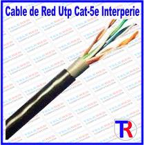Cable De Red Utp Cat-5e Internet Cctv Para Interperie Outdor