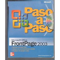 Libro Usado Con Cd Frontpage 2003 Paso A Paso 382 P *b33