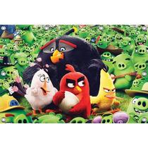 Painel Angry Birds 1,00 X 0,70m, Painel Infantil E Decoracao