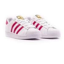 Adidas Superstar. Blancas Y Fucsia. Miami. Nuevas En Caja.