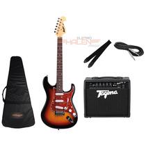 Kit Guitarra Tagima Mg32 Sunburst + Amplificador Fox 20