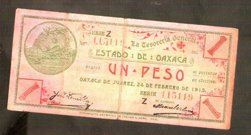 Billete de un peso oaxaca 1915 en mercado libre - Si vendo mi piso tengo que pagar a hacienda ...