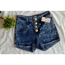 Shorts Levanta Bumbum Estilo Hot Pants Cintura Alta