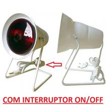 Frete Gratis Aparelho Infra Vermelho C/lâmpada 250w + On/off
