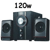 Caixa De Som 2.1 120w Subwoofer Amplificada Fm Usb Tv Pc Not