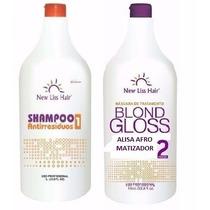 Escova Gloss New Liss Hair Alisa Sela Matiza Trata Os Fios