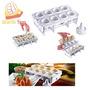 Forma Fábrica De Coxinha Faz 8 Salgados Kit Modelador Massa