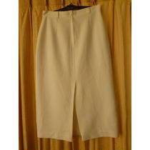 Falda Blanca Larga Para Traje De Huasa Elegante