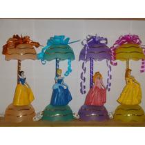 Princesas Centros De Mesa Recuerdos Lamparas Cumpleaños