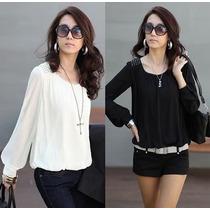 Preciosa Blusa De Gasa - Moda Coreana