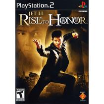 Jet Li: Rise To Honor Jogo De Playstation 2 Original Lacrado