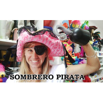 Sombrero Pirata + Garfio + Parche - Gorro Pirata - Súper !!