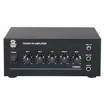 Amplificador Pyle Pcm20a 40 Watts Salida Con 25 Y 70 Voltios