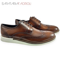 Sapato Masculino Social Oxford Inglês Calçado Couro Legítimo