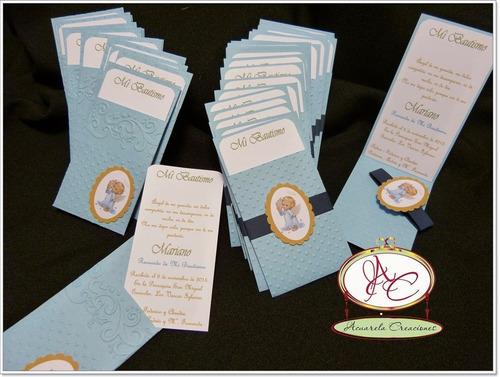 Recuerdo primera comunion o bautismo acuarela creaciones - Como hacer tarjetas para comunion ...